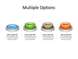 Multicolor buttons as options