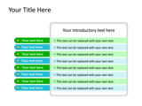 PowerPoint Slide - This PowerPoint diagram slide shows eight different agenda or list items.