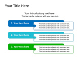 PowerPoint Slide - This PowerPoint diagram slide shows three different agendas.