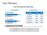 PowerPoint Slide - This PowerPoint chart slide shows a 2 bar charts and table. It is useful to represent sales figures.