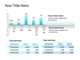 PowerPoint Slide - This PowerPoint slide has the data driven clustered column chart. In a data driven chart the data is linked to Excel.