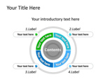 PowerPoint Slide - This PowerPoint slide shows doughnut chart that is nicely compensated by the stylish call outs.