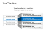 PowerPoint Slide - This PowerPoint diagram slide shows a list, with emphasis on one of the items.