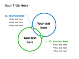 PowerPoint Slide - This PowerPoint diagram slide shows two different opinions, and how they can overlap.