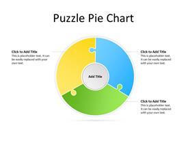 Puzzle pie concept