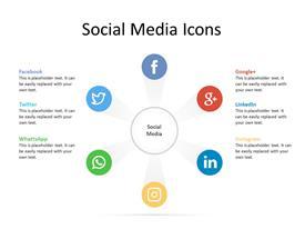 Social Media Circular Concept