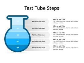 Five layers of a Test tube
