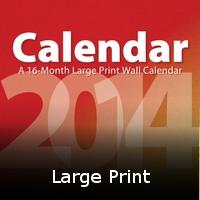 Large Print Calendars