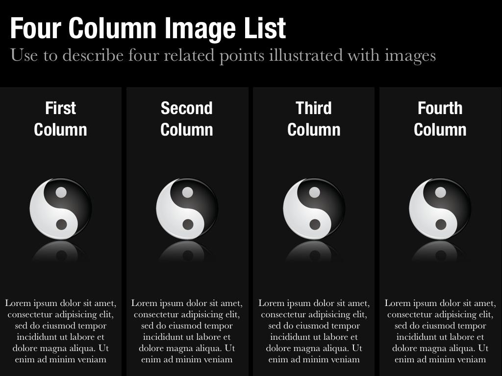 Column Image List Slide