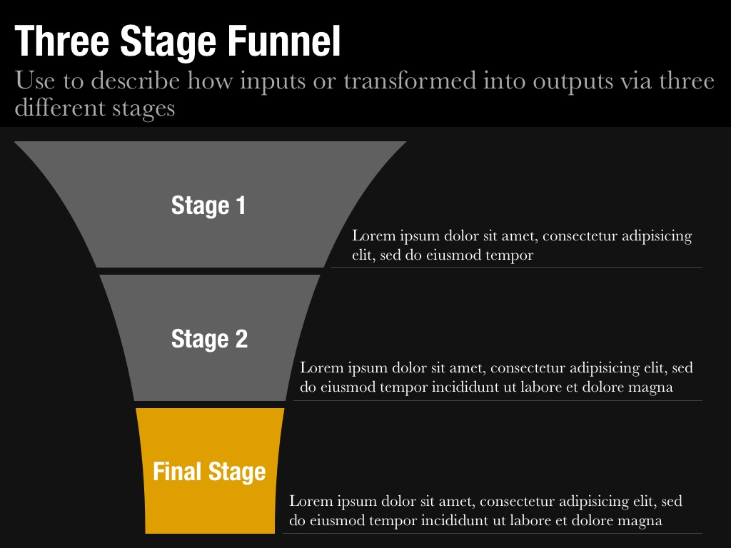 funnel diagram template for keynote and powerpoint - slidevana, Modern powerpoint