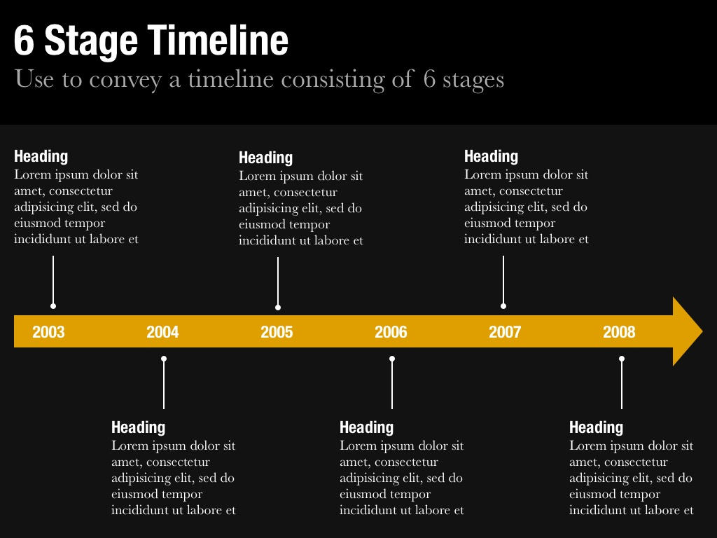 Timeline template for keynote and powerpoint slidevana five stage timeline slide six stage timeline slide toneelgroepblik Choice Image