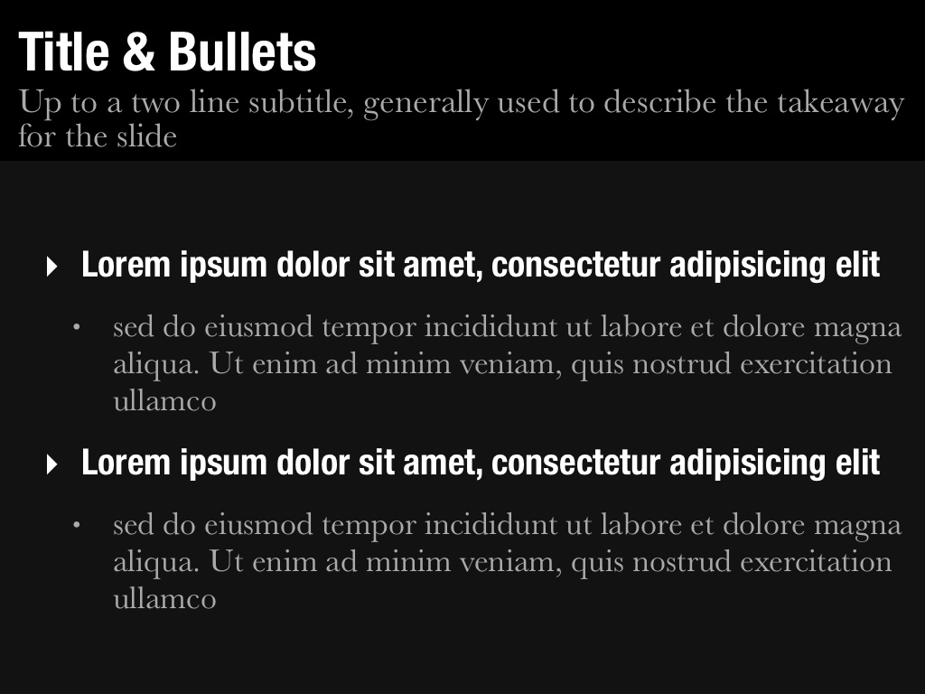 Title & Bullets Slide