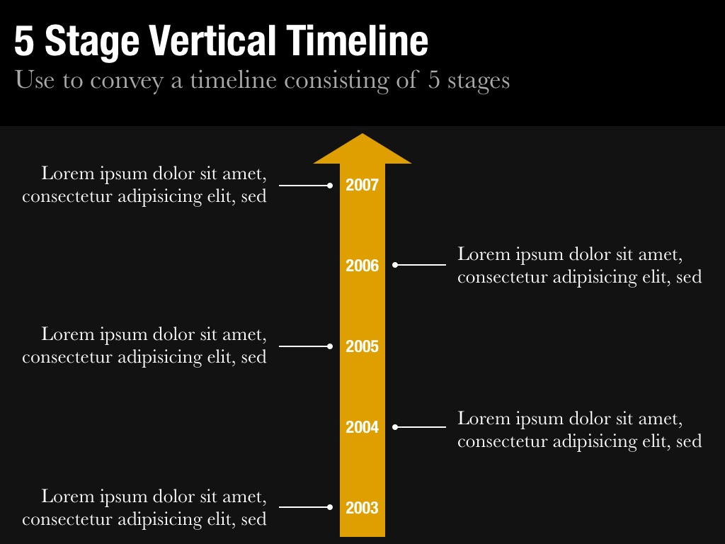 Vertical Timeline Template For Keynote And PowerPoint Slidevana - Timeline template keynote