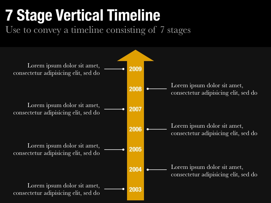Vertical timeline template for keynote and powerpoint slidevana seven stage vertical timeline slide toneelgroepblik Images