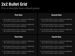 2x2 Bullet Grid Slide