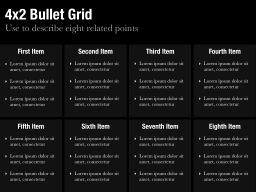Bullet Grid Template