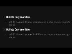 Bullets Only Slide