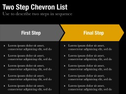 Two Step Chevron List Slide