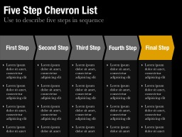 Five Step Chevron List Slide