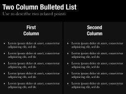 Two Column Bulleted List Slide