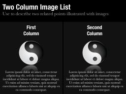 Two Column Image List Slide