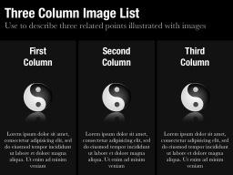 Three Column Image List Slide