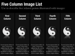 Five Column Image List Slide
