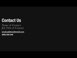 Contact Slide Template