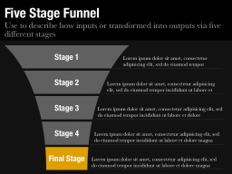 Five Stage Funnel Slide