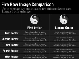 Five Row Image Comparison Slide