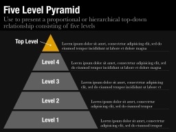 Five Level Pyramid Slide