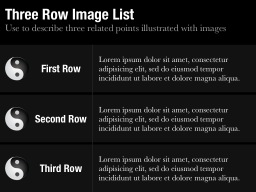 Three Row Image List Slide