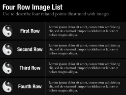 Four Row Image List Slide