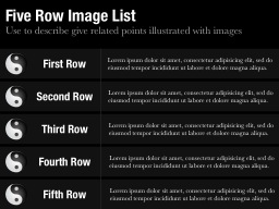 Five Row Image List Slide