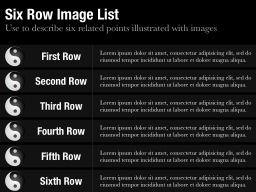 Six Row Image List Slide