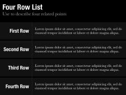 Row List Template