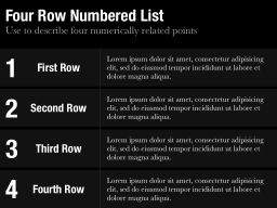 Row Numbered List Template