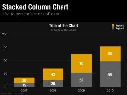 Stacked Column Chart Slide