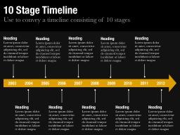 Ten Stage Timeline Slide