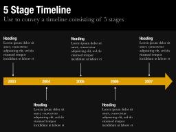Five Stage Timeline Slide