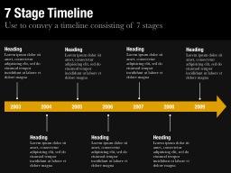 Seven Stage Timeline Slide