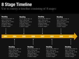 Eight Stage Timeline Slide