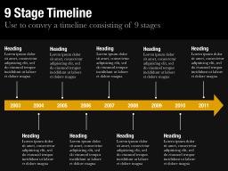 Nine Stage Timeline Slide