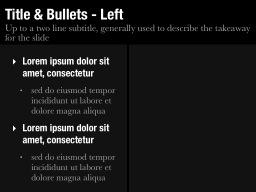 Title & Bullets - Left Slide