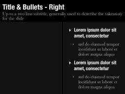 Title & Bullets - Right Slide