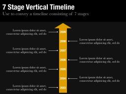 Seven Stage Vertical Timeline Slide