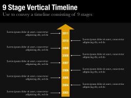 Nine Stage Vertical Timeline Slide