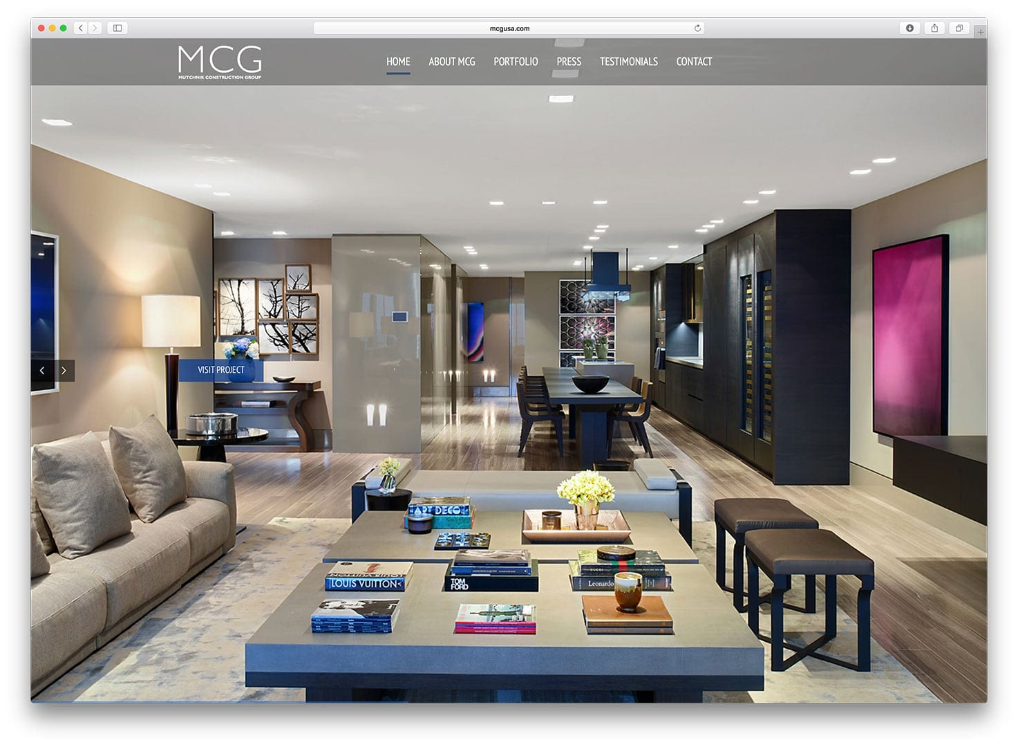 Muchnik Construction Group Miami Beach Web Design - After
