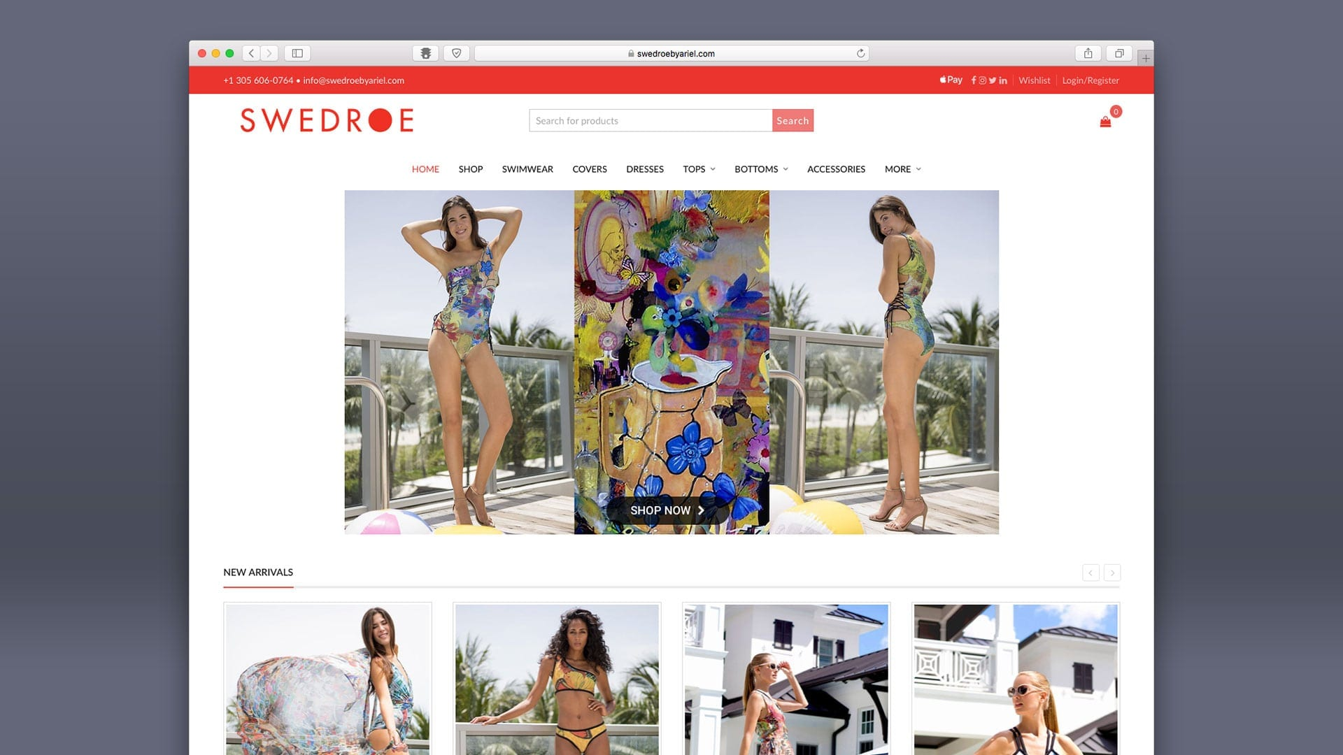 Swedroe by Ariel Website Design by sliStudios Miami