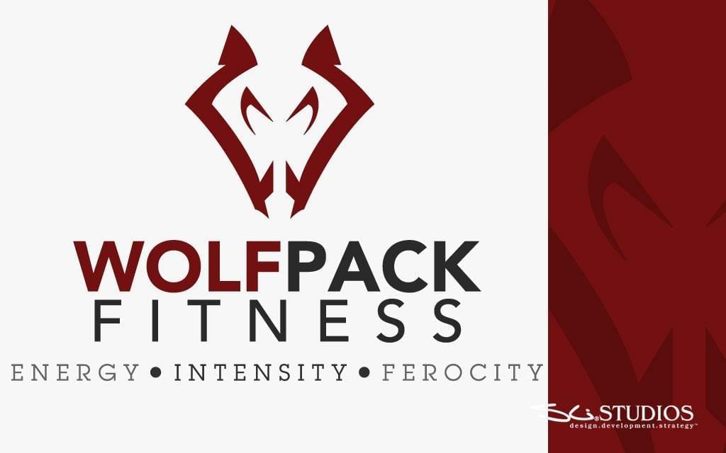 Wolfpack Fitness Branding - Logo Design - Tshirt Design - sliStudios - Miami